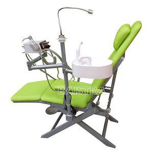 Portable Folding Chair LED light+Turbine unit+ Air water syringe+Handpiece hose