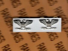US ARMY COL COLONEL 0-6 rank uniform badge miniature set pair