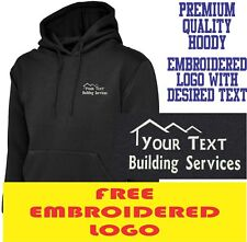 Personalised Embroidered Builder Hoodie BUILDING & CONSTRUCTION Workwear LOGO