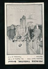 GLOS BRISTOL Princes Theatre poster advert card by Hassall c1930/40s