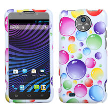 For Sprint Vital ZTE N9810 HARD Protector Case Snap Phone Cover Rainbow Bubbles