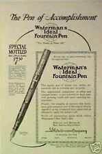 1924 Waterman Ideal Fountain Pens Red/Black Mottled Ad
