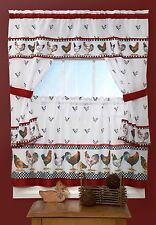 ROOSTER 5 Piece Kitchen Cottage Curtain Set/WINDOW CURTAIN-  top of morning