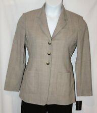 Anne Klein Blazer Jacket Petite Wool Blend Neutrals Couture Seasonless $385 6P 6