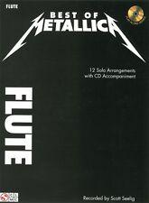 Metallica Best Of Enter Sandman Heavy Rock Pop Metal FLUTE Music Book & CD