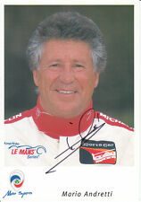 Mario Andretti mano firmato RITRATTO PROMO CARD 9x6 1.