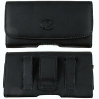 Leather Sideways Horizontal Belt Clip Case Pouch Cover for Kyocera Cell Phones