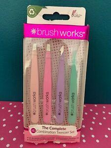 Brush Works The Complete HD Combination Tweezer Set