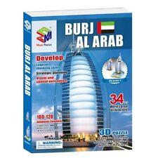 Cardboard Jigsaw 3D Puzzle G268-7 Burj Al Arab - Cool Hobbies Toy