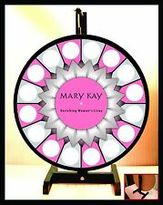 """Prize Wheel 24"""" Spinning Tabletop Portable Mary Kay 2015 Starburst Center"""