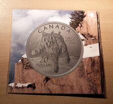 Canada 20 Dollar 1/4 oz 2014 Rotluchs Bobcat Silver