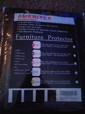 Chocolate Ameritex Couch Cover, Reversible Quilted Furniture Protector