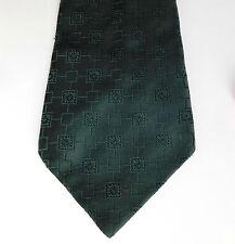 Bottle green kipper tie vintage 1970s St Michael M&S washable polyester