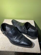 Mezlan Monk Strap Black Leather Avery Size 13 M Made In Spain $350