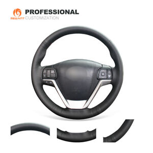 DIY Genuine Leather Steering Wheel Cover for Toyota Highlander Sienna 2015-2019