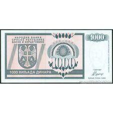 TWN - BOSNIA-HERZEGOVINA 137a - 1000 1.000 Dinara 1992 UNC Prefix AA