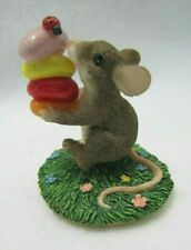 Fitz & Floyd Charming Tails Figurine Gathering Treats Mouse 87/377