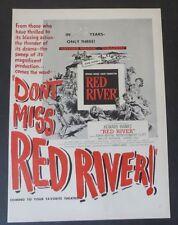Original Print Ad 1948 Movie Don't Miss Red River! John Wayne Montgomery Clift