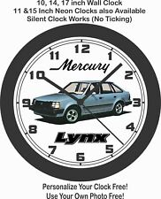 1983 Mercury Lynx Wall Clock-Free USA Ship