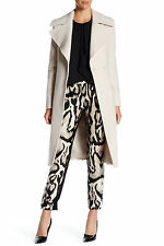 SZ 12 DIANE VON FURSTENBERG LIGHT GRAY NOTCH PANEL MARYANN WOOL BLEND COAT $598