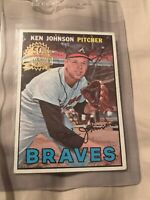 2016 Topps 50th anniversary BUY BACK 1967 Ken Johnson Braves SSP