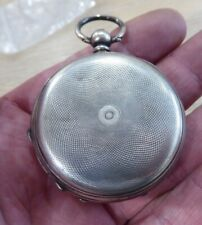 QUALITY ANTIQUE SOLID STERLING SILVER FULL HUNTER GENTS POCKET WATCH CASE