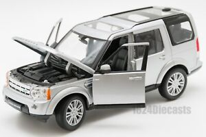 Land Rover Discovery 4 Silver, Welly 24008, scale 1:24, model adult boy gift