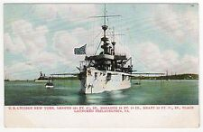 USS NEW YORK PC Postcard US NAVY Naval USN Cruiser ACR-2 Military WAR Ship NY