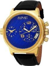 August Steiner AS8151YGBU Swiss Quartz Chronograph Date Blue Dial Mens Watch