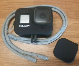 Case GoPro Hero 8 - Protective Silicone Cover with lens cap & lanyard - Telesin
