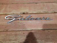 Vintage Car Auto Emblem Badge Name Plate Ford Galaxie                       B2