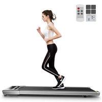 Folding Treadmill 2in1 2.5HP Under Desk Running Machine APP w/Remote Controller
