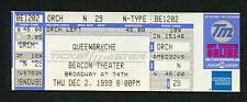 Original 1999 Queensryche Unused Full Concert Ticket Beacon Ny Promised Land