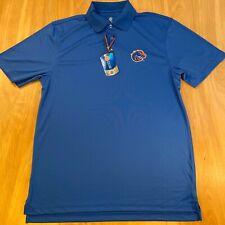 NWT LEVELWEAR Boise State University ~ Broncos ~ Polo Shirt Blue~ Men's Medium