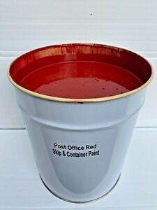 20LTR SKIP & CONTAINER PAINT ~ ENAMEL GLOSS ~ POST OFFICE (RED) HARD WEARING