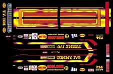 Tommy IVO Plymouth Funny Car Drag NHRA 1/32nd Scale Slot Car Decals