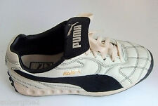 PUMA White/Black Quilted Leather w/Suede Lace-Up Athletic Shoes/Sneakers,US Sz 6