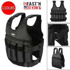 US Adjustable Weighted Vest Weight Training Fitness Workout Exercise Jacket 50kg