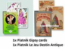 2 DECKS.- 1x PIATNIK GIPSY Tarot telling cards + 1x Le Jeu Destin Antique 194412