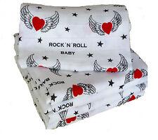 Babymajawelt® 12296 Mullwindeln Rock'n  80x80 Spucktücher Windeln Stoffwindeln