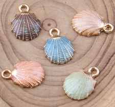 Blue/ Sea shell Charm Pendant Accessories Jewelry Making Small Pendant V1034