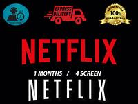 NetfIix Premium Account Vip PASSWORD CHANGEABLE 4K 1 Month 4k 4 Screens Private