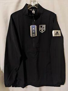 NWT Adidas Los Angeles Kings Game Mode Mens 1/4 Zip Pullover Jacket Sz L EB6637