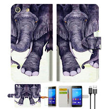 Elephant Wallet TPU Case Cover For Sony Xperia M5 -- A007