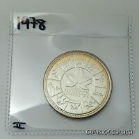 1978 Canada Silver Dollar UNCIRCULATED Specimen Coin Commonwealth #coinsofcanada