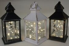 Choice of 3 Christmas Winter Lanterns with Internal Light Up LED Light Strings