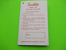 Small 1966 Owner's Manual for a REVELATION MODEL 105 BOLT ACTION .22 CAL RIFLE