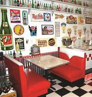 NEW Hot Rod Chevie Diner Booth Set , Restaurant, Cafe