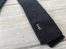 YSL necktie YVES SAINT LAURENT vintage WOOL knit black