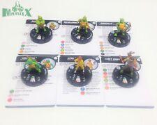 Heroclix Teenage Mutant Ninja Turtles 2 COMPLETE 6-figure Fast Forces figures!